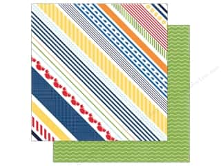 "Echo Park Collection Under The Sea Paper 12""x 12"" Crabby Stripe"