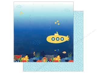 "Echo Park Collection Under The Sea Paper 12""x 12"" Submarine Scene (25 pieces)"