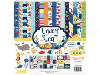 "scrapbooking & paper crafts: Echo Park Collection Under The Sea Paper 12""x 12"" Collection Kit"