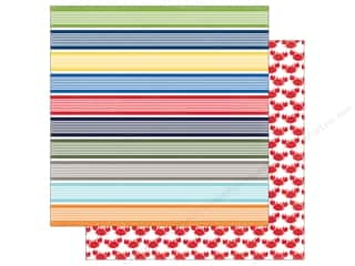 "Echo Park Collection Under The Sea Paper 12""x 12"" Swimmingly Stripe (25 pieces)"