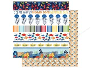 "scrapbooking & paper crafts: Echo Park Collection Under The Sea Paper 12""x 12"" Border Strips (25 pieces)"