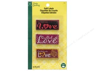 sewing & quilting: Dritz Label Quilt Embroidered Sew In Quilted With Love Assorted 9pc