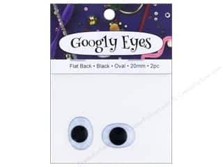 craft & hobbies: PA Essentials Googly Eyes 3/4 in. Oval 2 pc. Black