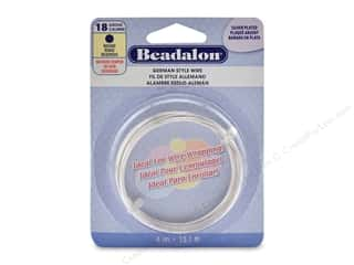 beading & jewelry making supplies: Beadalon German Style Wire Round 18 ga Silver Plate 4 M
