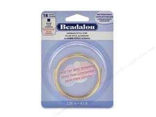 craft & hobbies: Beadalon German Style Wire Square 18 ga Tarnish Resistant Brass 1.25 M