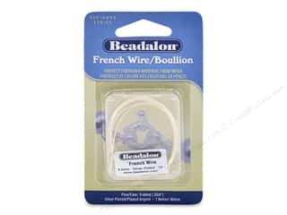 beading & jewelry making supplies: Beadalon French Wire Fine .6 mm 1 M Silver Plate