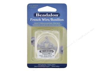 beading & jewelry making supplies: Beadalon French Wire Heavy .8 mm 1 M Silver Plate