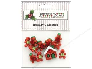 Buttons Galore Theme Button Holiday Gingerbread Cottage