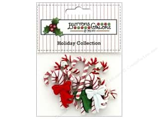 novelties: Buttons Galore Theme Button Holiday Candy Cane Lane