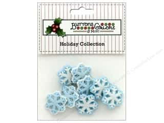 novelties: Buttons Galore Theme Button Holiday Frozen Flakes