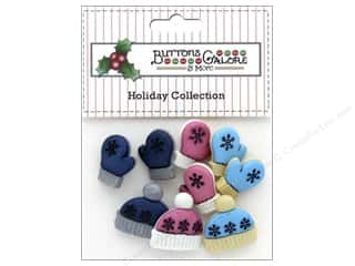 candle color: Buttons Galore Theme Button Holiday Winter Woolies