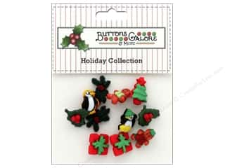 candle color: Buttons Galore Theme Button Holiday Christmas Miniatures