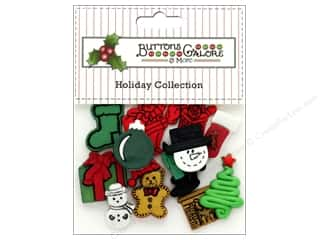 Clearance: Buttons Galore Theme Button Holiday Christmas Flatbacks