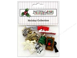 Clearance: Buttons Galore Theme Button Holiday Caroling