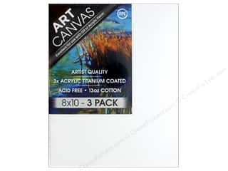 craft & hobbies: Sierra Pacific Crafts Canvas 8 in. x 10 in. x .75 in. Profile Triple Pack