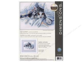 "yarn & needlework: Dimensions Cross Stitch Kit 10""x 8"" Cat Comfort"