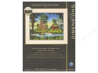 "yarn & needlework: Dimensions Cross Stitch Kit 14""x 11"" Summer Cottage"