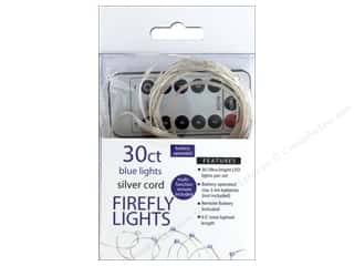 Sierra Pacific Crafts Lights Firefly LED 30 ct Chasing With Remote Blue/Silver Cord