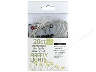 Sierra Pacific Crafts Lights Firefly LED 20 ct Star With Remote Warm White/Silver Cord