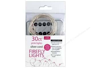 Sierra Pacific Crafts Lights Firefly LED 30 ct Chasing With Remote Pink/Silver Cord