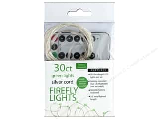 Sierra Pacific Crafts Lights Firefly LED 30 ct Chasing With Remote Green/Silver Cord