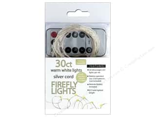 Sierra Pacific Crafts Lights Firefly LED 30 ct Chasing With Remote Warm White/Silver Cord