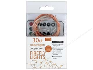 craft & hobbies: Sierra Pacific Crafts Lights Firefly LED 30 ct Chasing With Remote Amber/Copper Cord