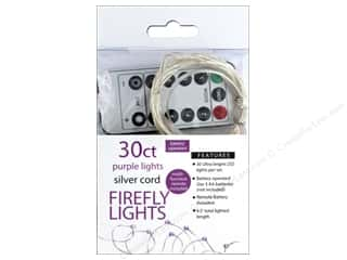 craft & hobbies: Sierra Pacific Crafts Lights Firefly LED 30 ct Chasing With Remote Purple/Silver Cord