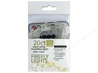 craft & hobbies: Sierra Pacific Crafts Lights Firefly LED 20 ct Snowflake With Remote Warm White/Silver Cord