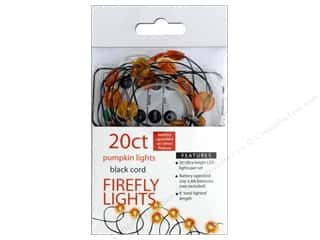 Sierra Pacific Crafts Lights Firefly LED 20 ct Pumpkin With Remote Orange/Black Cord