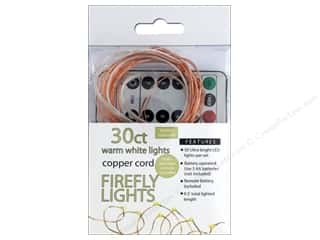 Sierra Pacific Crafts Lights Firefly LED 30 ct Chasing With Remote Warm White/Copper Cord