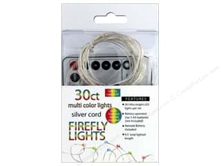 Sierra Pacific Crafts Lights Firefly LED 30 ct Chasing With Remote Multi/Silver Cord