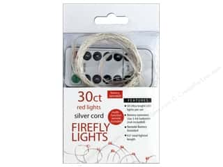 craft & hobbies: Sierra Pacific Crafts Lights Firefly LED 30 ct Chasing With Remote Red/Silver Cord