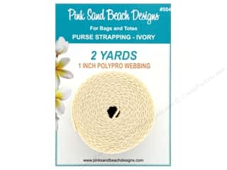 "Pink Sand Beach Accessories Purse Strapping 1""x 2yd Ivory"