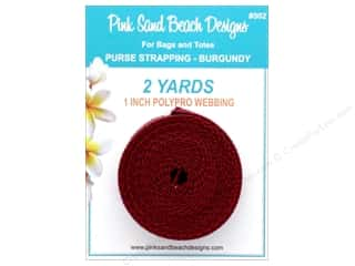 "Pink Sand Beach Accessories Purse Strapping 1""x 2yd Burgundy"