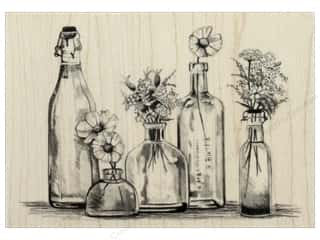 stamp: Inkadinkado Wood Stamp Bottle Row
