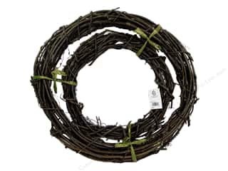 straw wreath: Sierra Pacific Crafts Decor Vine Wreath With Lacquer 12 in. & 18 in. (12 sets)