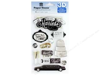 Paper House Sticker 3D Eat Drink Married