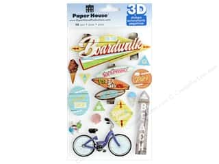 Paper House Sticker 3D Boardwalk Beach