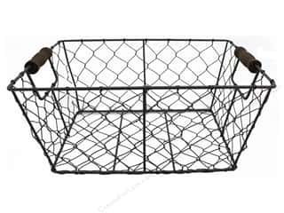 craft & hobbies: Sierra Pacific Crafts Storage Wire Basket With Handles 11.75 in. Rustic