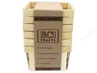 craft & hobbies: BCI Crafts Berry Baskets Wood Small 6pc