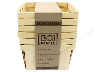 craft & hobbies: BCI Crafts Berry Baskets Wood Large 6pc
