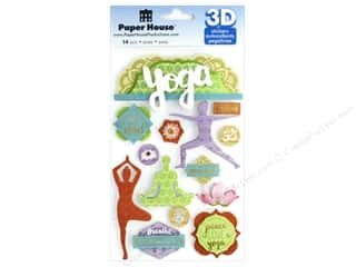 stickers: Paper House Sticker 3D Yoga