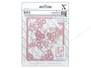 scrapbooking & paper crafts: Docrafts Xcut Die Floral Heart 2pc
