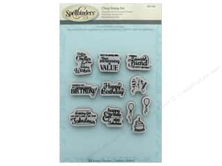stamps: Spellbinders Stamp Special Birthday Sentiments