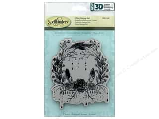 3-d stamps: Spellbinders Stamp 3D Shading Floral Wreath