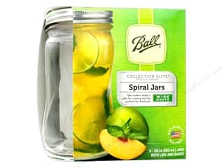 craft & hobbies: Ball Jar Elite Spiral Shape 28oz 4pc