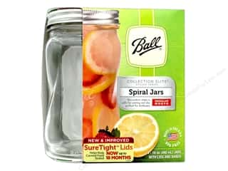 craft & hobbies: Ball Jar Elite Spiral Shape 16oz 4pc