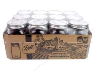 Ball Jar Quart Wide Mouth Smooth Sided 12pc