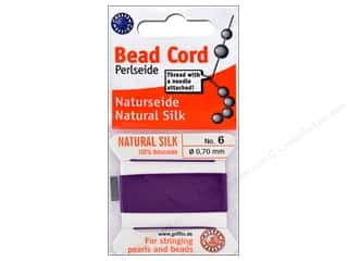 beading & jewelry making supplies: Beadalon Cord 100% Silk Size 6 Amethyst 2 M